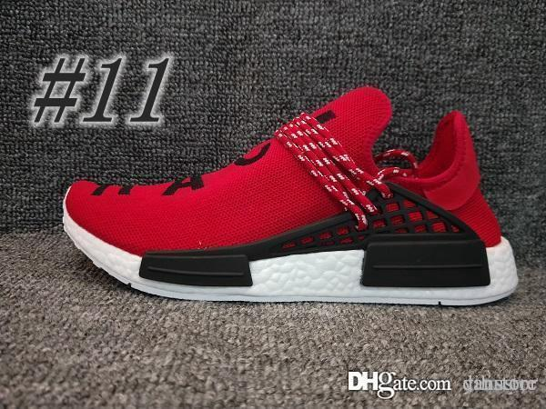 2018 NEW Pharrell Williams Human RACE R1 R2 XR1 HU N*D Trail Mens Designer Sports Running Shoes for Men Sneakers Women Casual Trainers yiliu