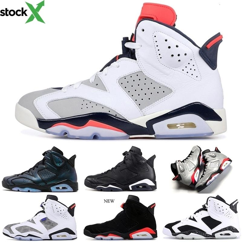 2020 nero a infrarossi 6 6s scarpe da basket riflettente Argento Bred CNY Carmine Tinker Unc Black Cat Pinnacle Sports Mens Sneakers 7-13