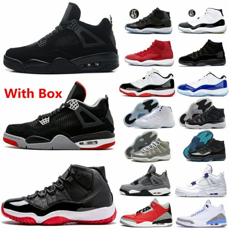 2020 black cat 4 4s basketball shoes 11 low white bred 11s men sneakers cool grey gamma legend blue black cement UNC 3 3s concord space jam