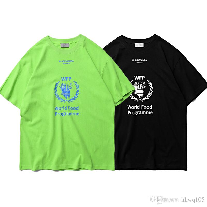 New WFP World Food Programme Printed T-shirt Fashion Unisex Summer Tees Women Men Short Sleeve Cotton Shirt Hiphop Streetwear CLI0502