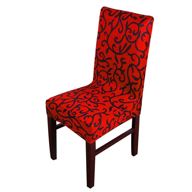 Plain / Stampa sedia sfoderabile Matrimoni Banchetto Sedia pieghevole Copertura Stretch elastico copertura fundas de sillas elasticas