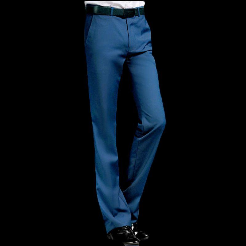 2019 nuovi pantaloni a zampa d'elefante estate maschio pantaloni diritti di svago del vestito britannico rosso libero piedi caldi pantaloni di colore blu / nero / vino