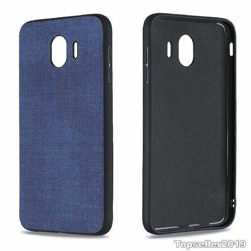 Pour SAMSUNG J4 2018 Anti Shock Plaster Denim Texture TPU Téléphone cas couverture arrière Freeshipping de haute qualité en gros B125