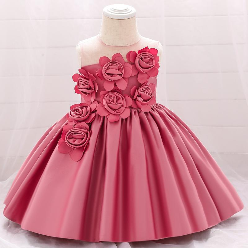 2020 Детские Цветы Девушке Платье Формальное Вечернее Платье Пром Платье Розовый Цветок Девушки Платья Девушки Цветка Розовый