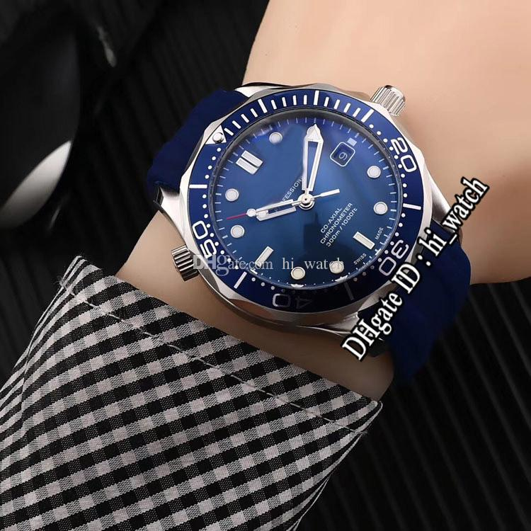 New 300M Dive 210.32.42.20.03.001 Blue Bezel Blue Dial Automatic Mens Watch Rubber Sports Watches Cheap Hi_watch Cool B366e5