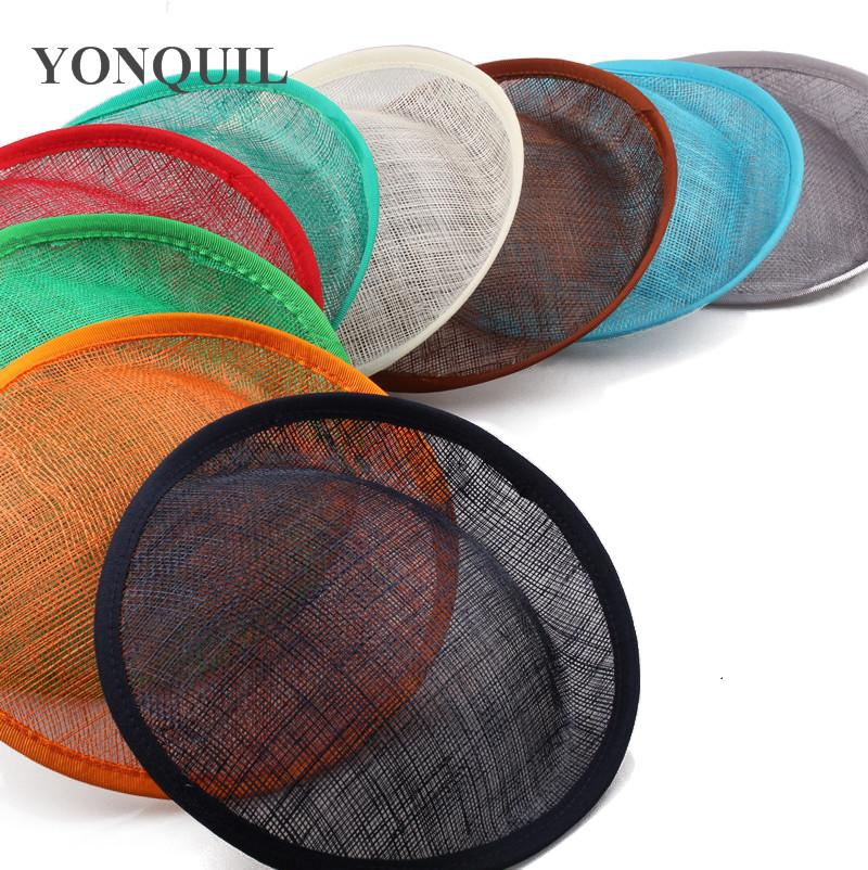 Multiple colors 20 CM sinamay fascinator base make for women wedding fascinator hats hair accessories for party millinery fedora