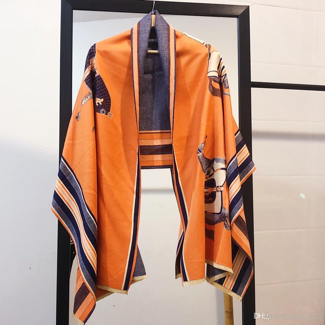 2019 Carro grande marca impresa ropa de mujer bufandas moda ligera bufanda de invierno mujer bufandas de lujo de alta calidad sin caja