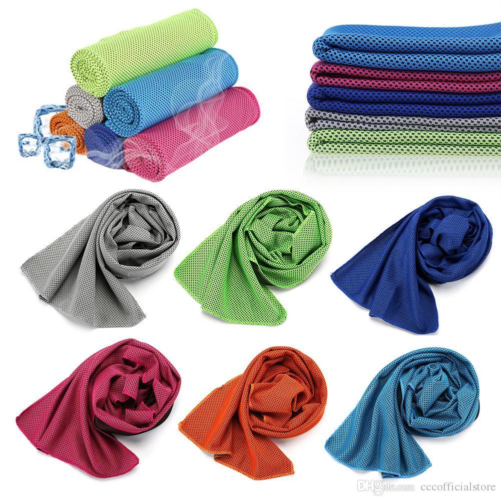 Quick-gelo seco toalhas de microfibra Sports instantâneo Toalha de refrigeração Gym toalha de rosto Academia Ice Cool Yoga Escalada Equitação Piscina Toalha