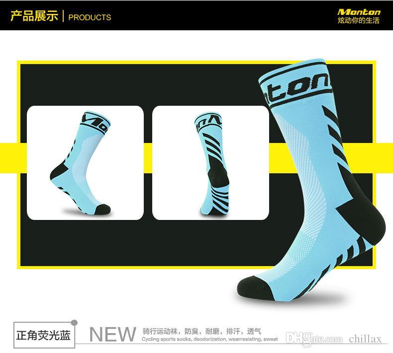 Yeni tasarımcı bisiklet çorap uzun sockings baskı aşınmaya dayanıklı deodoran spor çorap mektup çalışan açık basketbol mens