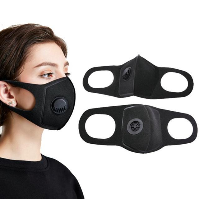 Valf Maskeler N95 Antialerjik PM2.5 Ağız Karşıtı Toz Karşıtı Kirliliği Kumaş Maske 1000pcs Maske sünger Maske Nefes Unisex Yeniden kullanılabilir