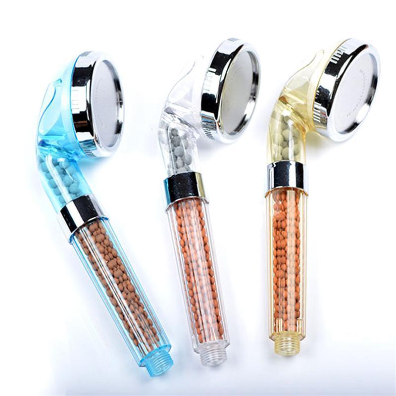 Bagno Soffioni 3 Funzione alta Pressurizzare doccia palmare Plastic Head Water Saving soffione Bagno Filter Spray 100pcs T1I2080