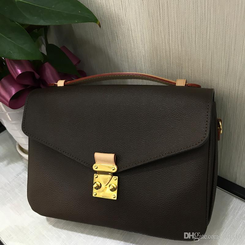 Designer Luxus-Handtaschen Geldbörsen hochwertige echte Leder Frauen Handtasche Pochette Metis Umhängetaschen Designer Umhängetasche M40780 LB83