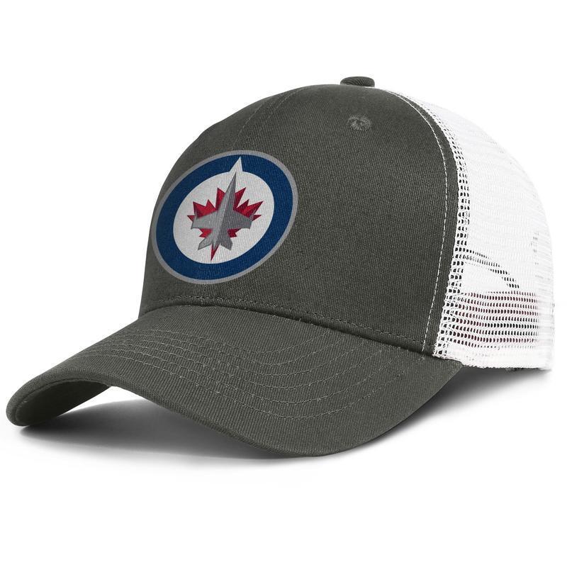 Gorras de camionero de malla populares Hombres mujeres-Winnipeg Jets logotipo principal tapa de diseñador snapback tapa del cubo ajustable al aire libre