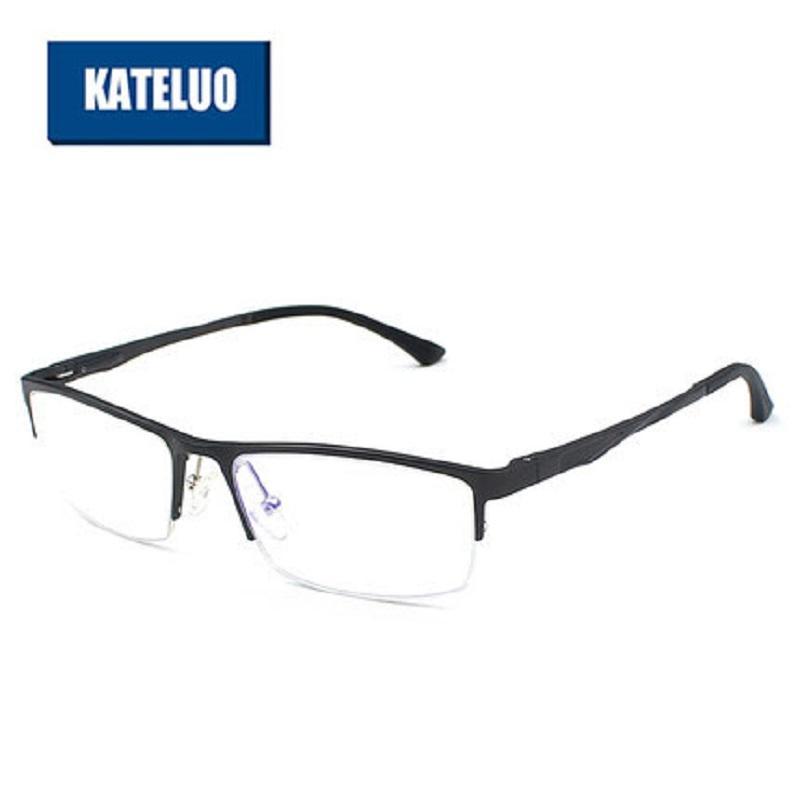 KATELUO Anti Blue Laser Goggles Radiation-resistant Men's Eyeglasses Frame Al-Ma Alloy Men Glasses Eyewear Accessories 298