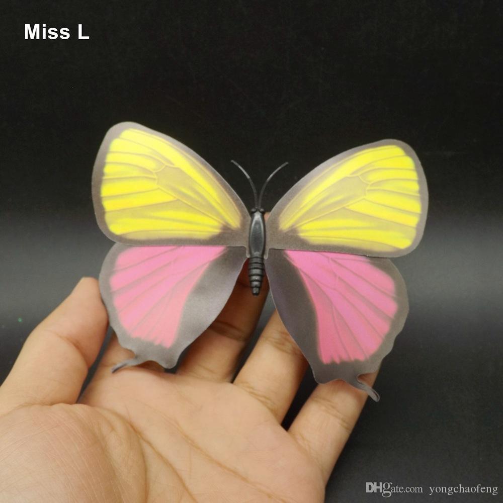 3D لطيف الحيوان الفراشة مغناطيس الدعائم المغناطيسي نموذج لعبة طفل
