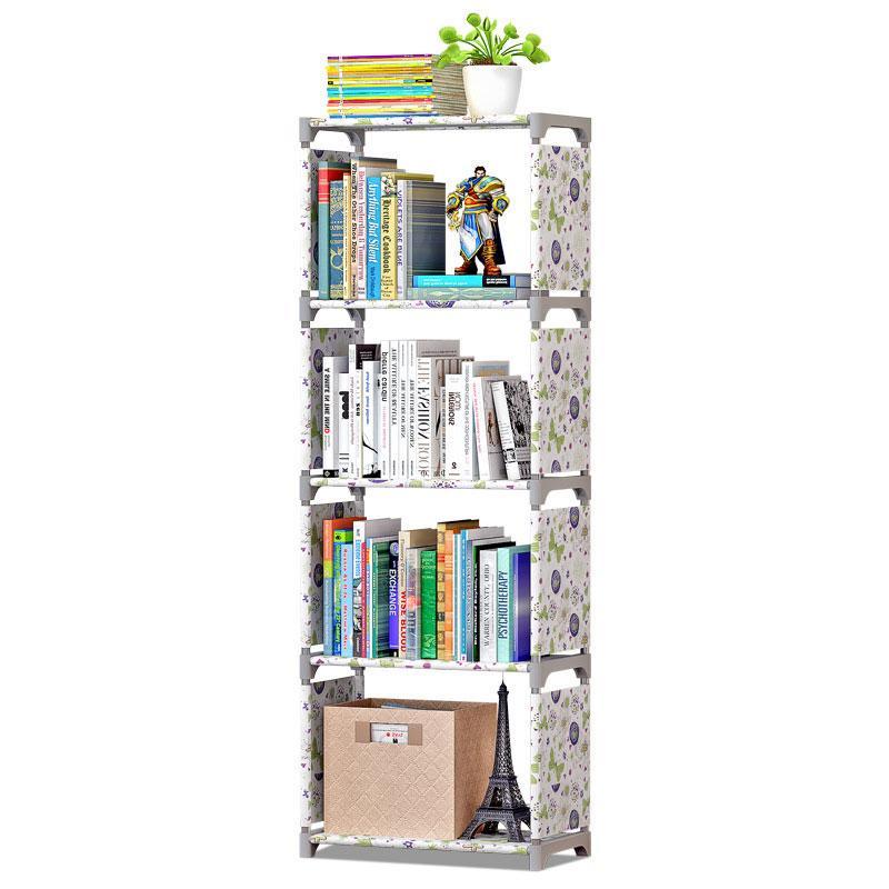 Bücherregal Lagerung Shelve für Bücher Einfaches Asemmbly Buch Rack-Regal für Wohnmöbel Boekenkast Wohnmöbel