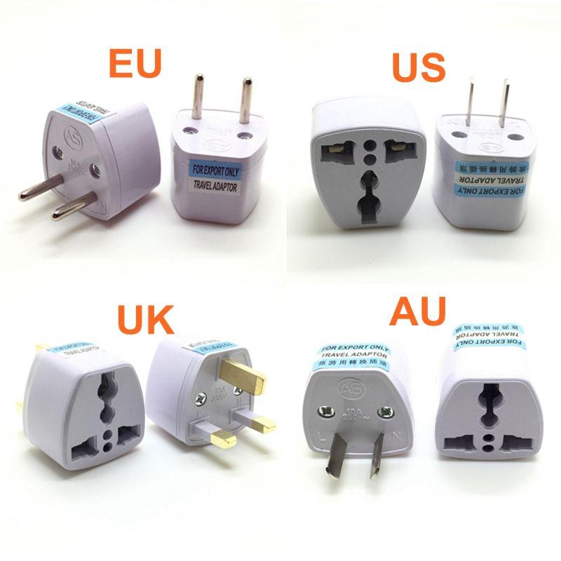 Универсальный США Великобритании AU заткнуть США ЕС к Евро Европа Путешествия AC стены зарядное устройство розетка адаптер конвертер Гнездо