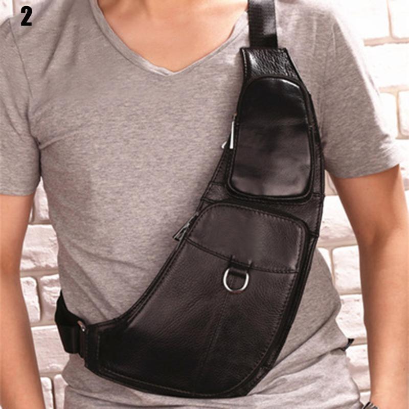 Los hombres de Fashional del bolso de hombro Pecho Cintura de gran capacidad Packs cremallera casual para al aire libre móvil teclas del teléfono Travel Money