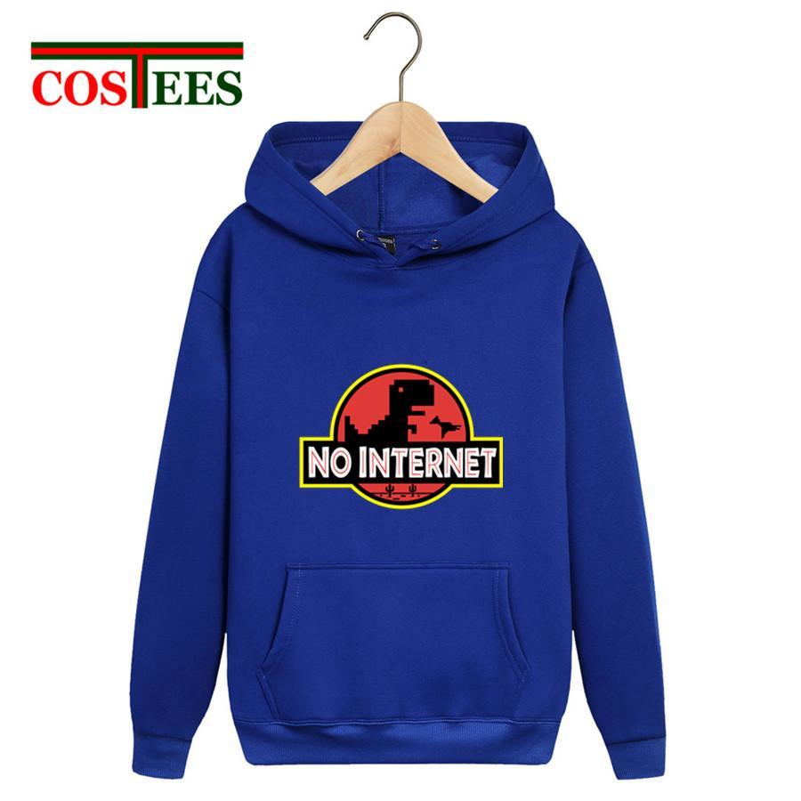 2019 Nerd Parody Pas d'Internet Dinosaur Park Sweatshirts hommes Dino hoodies streetwear funny Jurassic monde chaud sweat à capuche