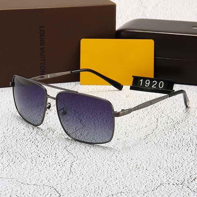 نظارات شمسية كلاسيكية ذات جودة عالية مصممة براند Mens Womens Sun Glues Eyewear Gold Metal GrGlass Lenses Brown Cas 1920