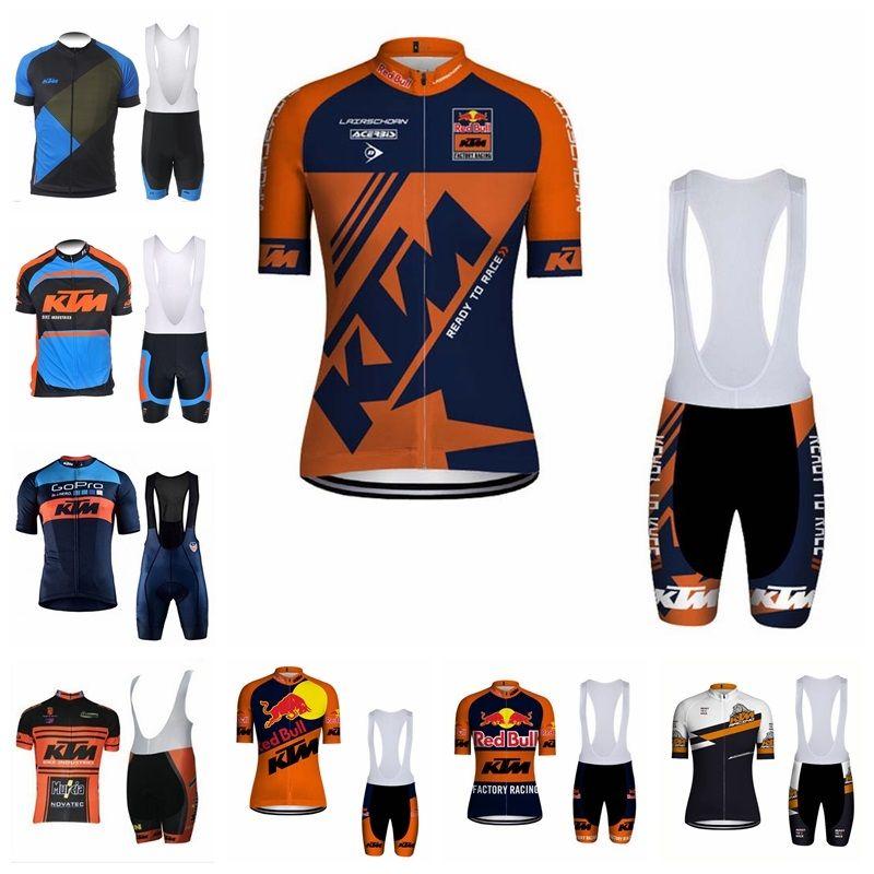 New 2019 KTM Pantaloncini da ciclismo a maniche corte in jersey Set di abbigliamento da ciclismo Abbigliamento da ciclismo Abbigliamento sportivo K040706