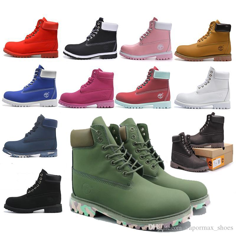 top quality Original Timberland boots designer luxury boots for mens winter boots womens Military Triple White Black Camo size 36-45