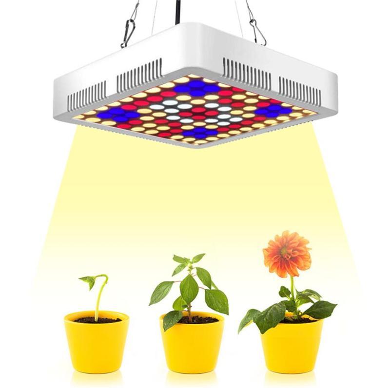 300W LED Grow Lights Panneau de lampe Panneau Hydroponique Culture de soleil Sunshine Spectrum complet pour Veg Flower Intérieur Plante Graines AC85-265V