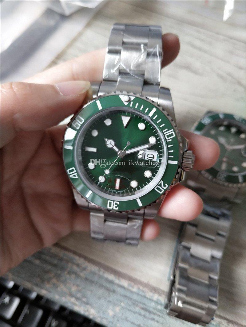 뜨거운 판매 남자는 스테인레스 스틸 남성의 손목 시계 녹색 다이얼 스틸 밴드 (119) 시계 시계