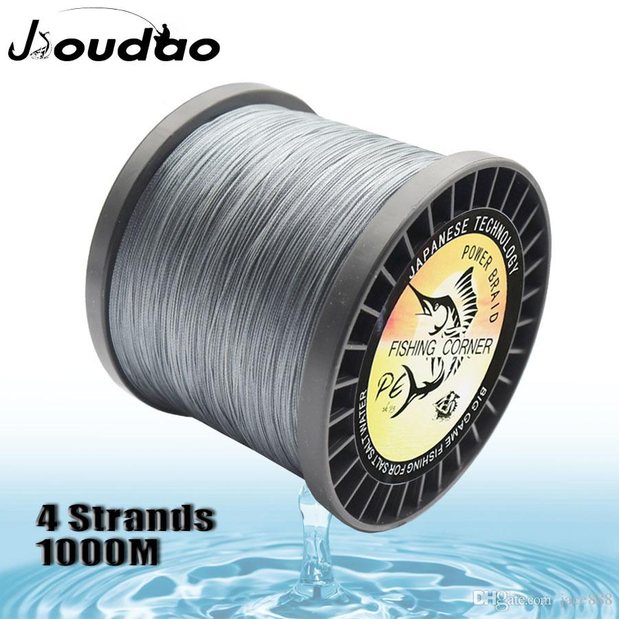 4 Strands Braided Fishing Line 1000m Superline Abrasion Resistant Super Strong High Performance 10lb-220lb PE Fishing Lines