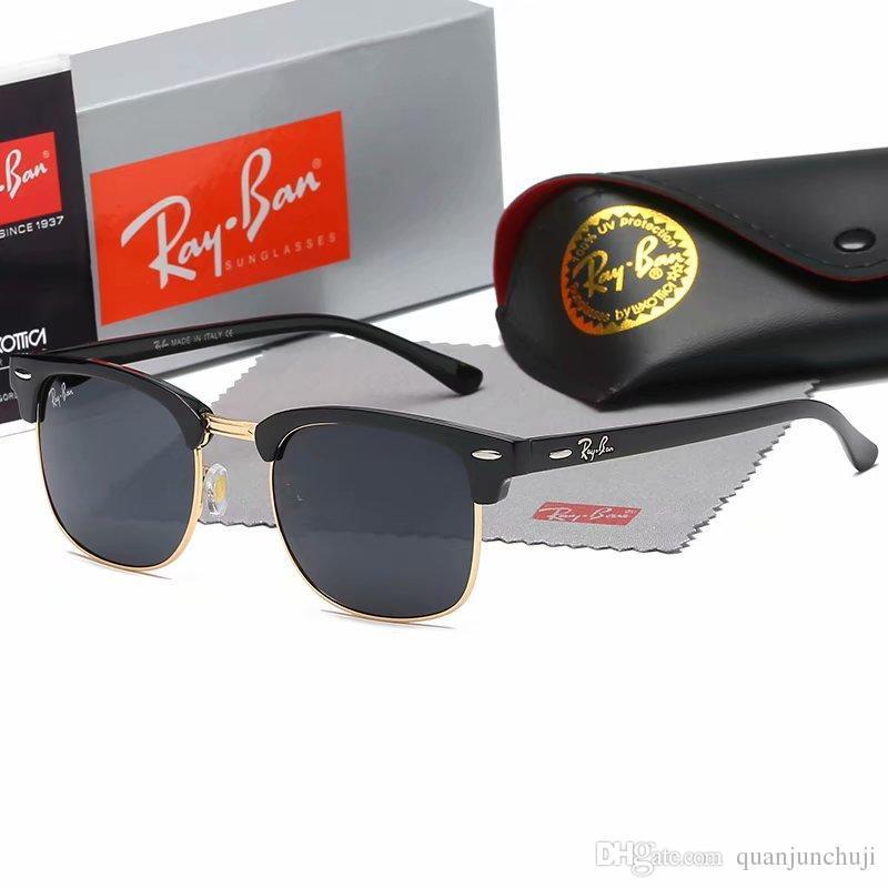 브랜드 디자이너 선글라스 고품질 금속 힌지 선글라스 남성 안경 여성 태양 안경 UV400 렌즈 남녀 케이스 및 상자
