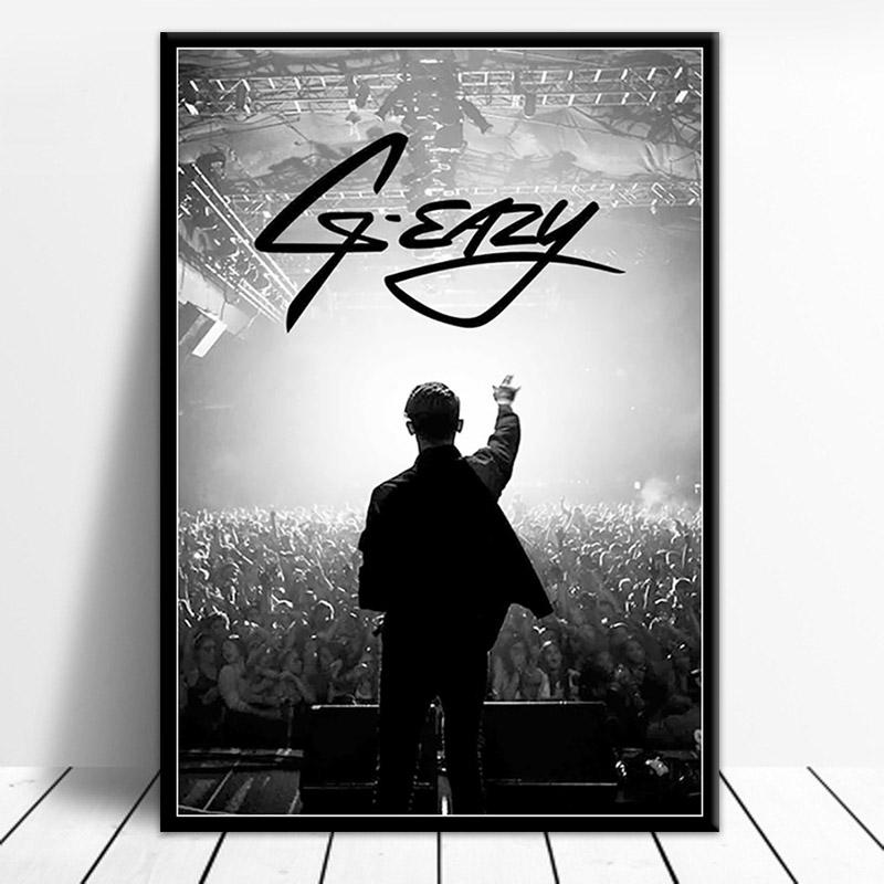 Posters and Prints G-Eazy Halsey Rap Music Poster Wall Art Picture Canvas Painting for Room Home Decor