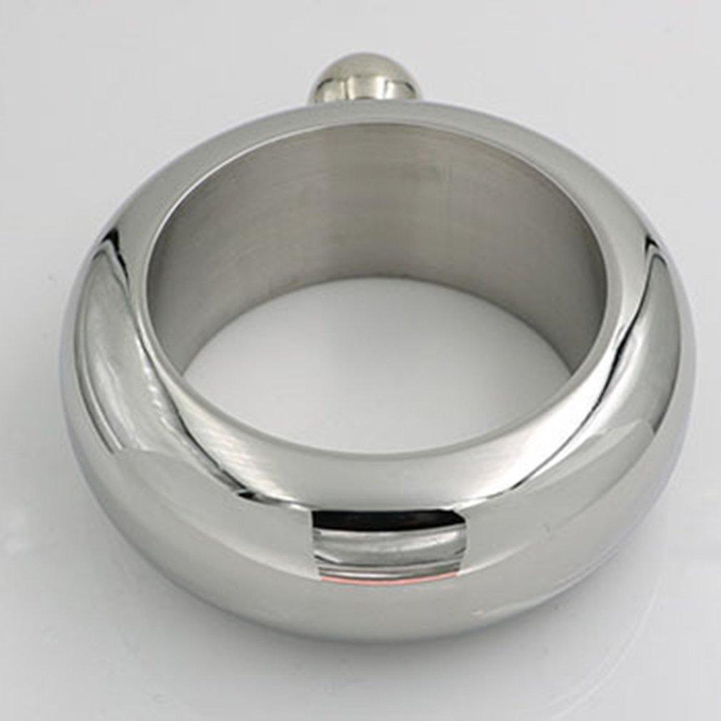 Multi-Función portátil pulsera Jarro Con Embudo de oro rosa 304 redondo de acero inoxidable Cuerpo robusto pulsera