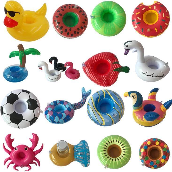 Copa inflável Flutuador Porta-copos Coasters inflável Titular da bebida para a Piscina colchões de ar para a Copa do Partido SuppliesI175