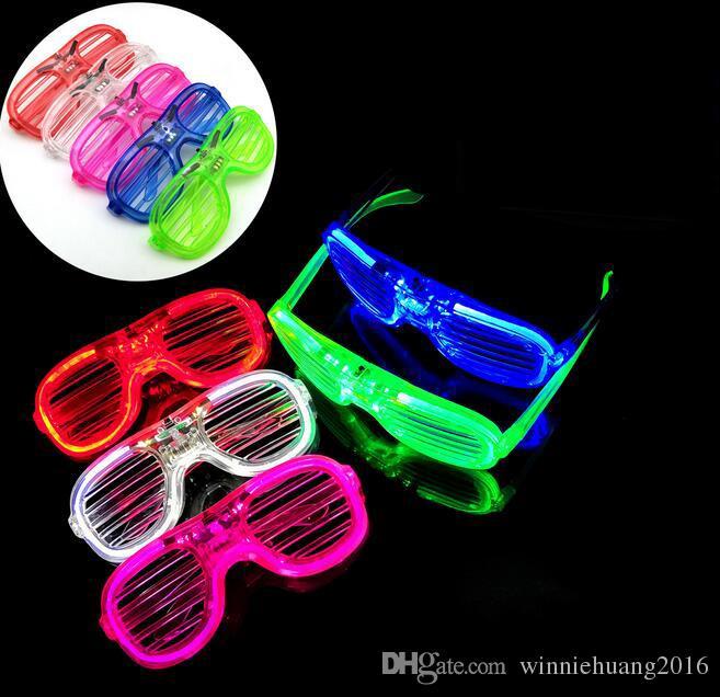 جديد وصول الصمام مضيئة نظارات فلاش مصراع نظارات ديسكو بار بارد ضوء إمدادات حزب الأطفال فلاش لعب
