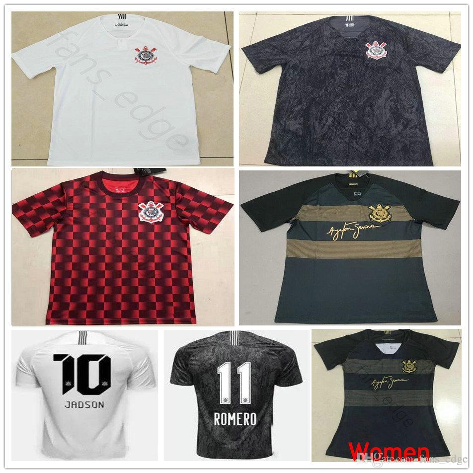 2019 maglia da calcio Corinthian Paulista 2020 10 JADSON 23 ROMERO CLAYTON PABLO M.GABRIEL Personalizza 19 20 Maglia da calcio bianca nera rossa