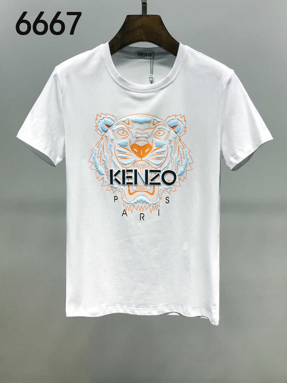 2020 camisetas Cartão Tide Summer Fashion Europeia manga curta para o desgaste do Tempo de Lazer Men Roupa T-shirt dos homens bordados shirts 11283 grande