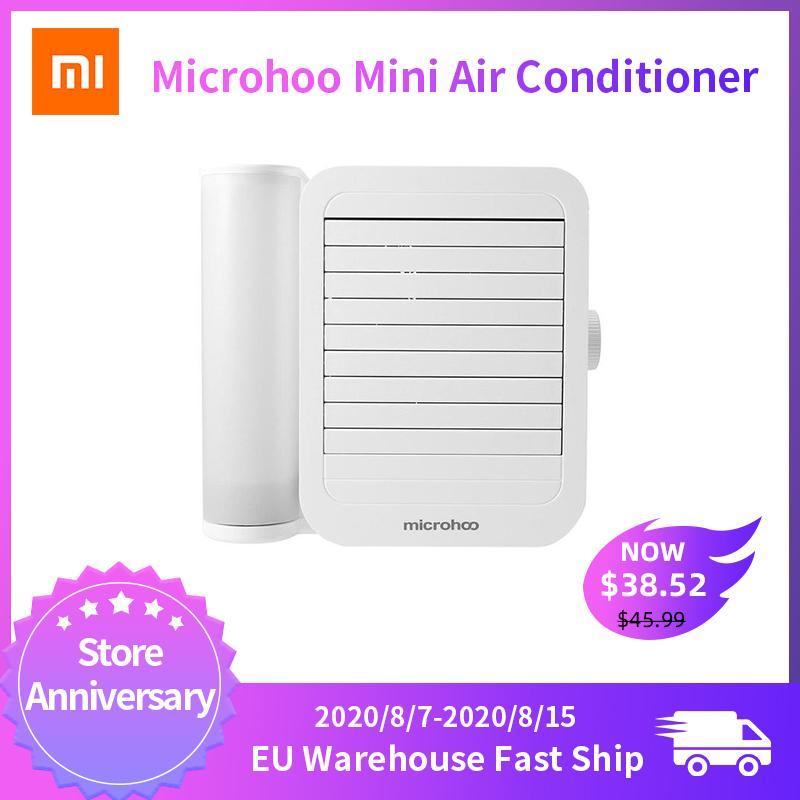 XIAOMI microhoo مكيف الهواء البسيطة مروحة تبريد تعمل باللمس 99-سرعة التكيف توفير الطاقة التوقيت القدرات 6W 1000ML المياه