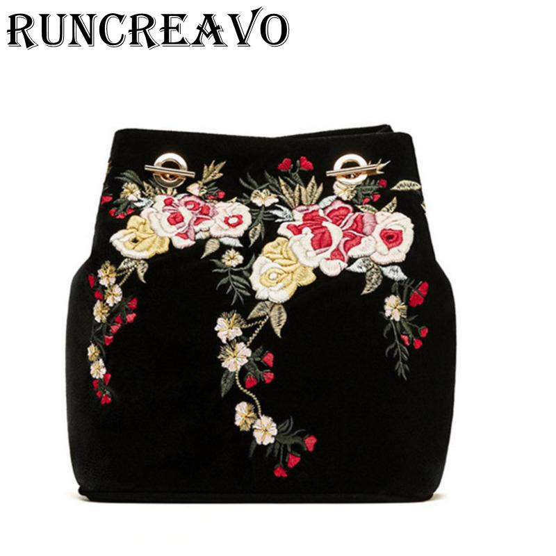 2018 Crossbody Bag For Women Leather Handbag Luxury Handbags Women Bags Designer Embroidery Flower Chain Shoulder Bag Sac A Main Y19062003