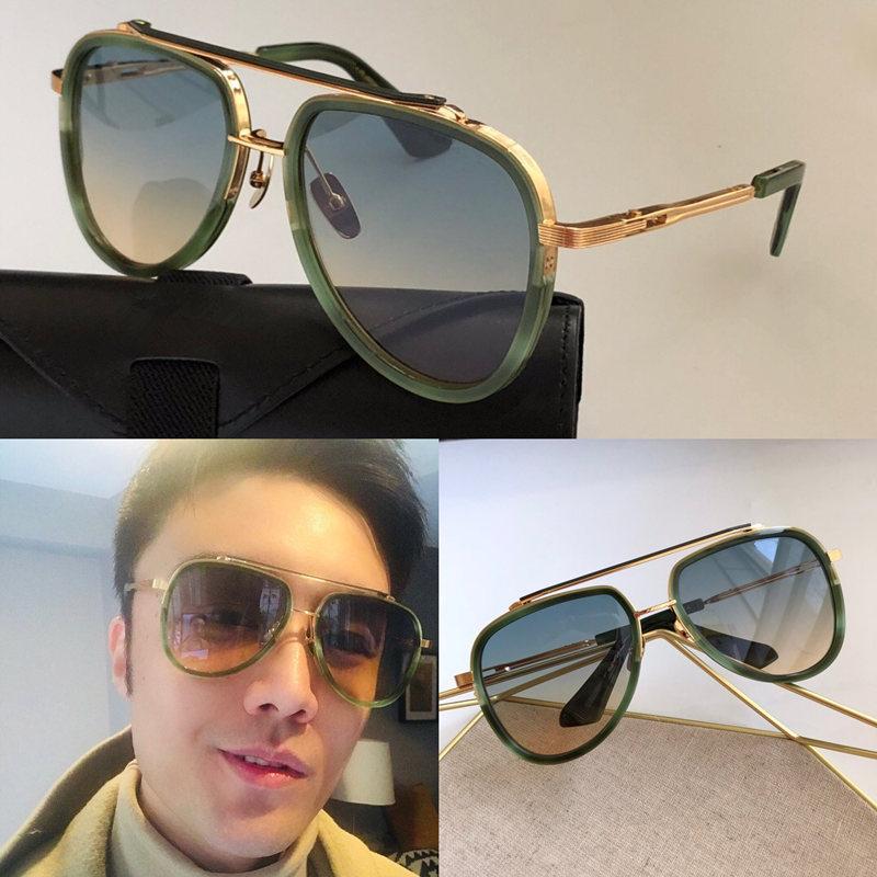 M TwelV Sonnenbrille für Männer und Frauen Sommerart Anti-Ultraviolett Retro Runde Formplatte Full Frame Mode Brillen Zufallskiste