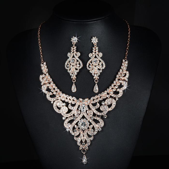2019 Slbridal New Arrival Rose Gold Austrian Crystal Rhinestones
