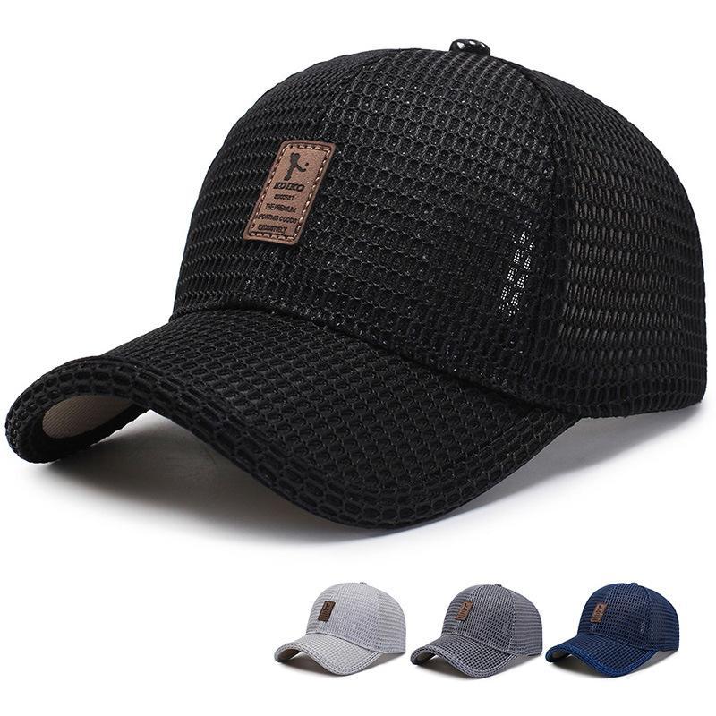 새로운 성인 남여 메쉬 야구 모자 조절면 통기성 편안한 양산 태양 모자 스냅 백 캡