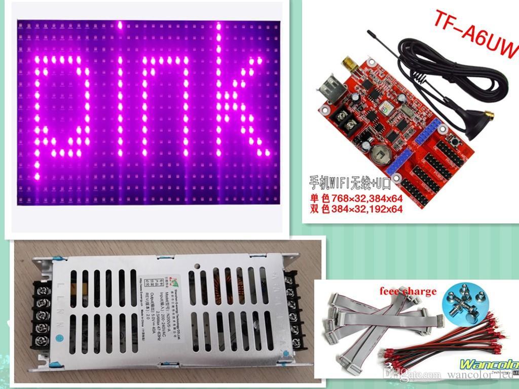 Il trasporto libero 20 pz p10 SMD colore rosa all'aperto LED modulo di testo segno (320 * 160 MM) + 2 pz di alimentazione + WIFI / usb controller