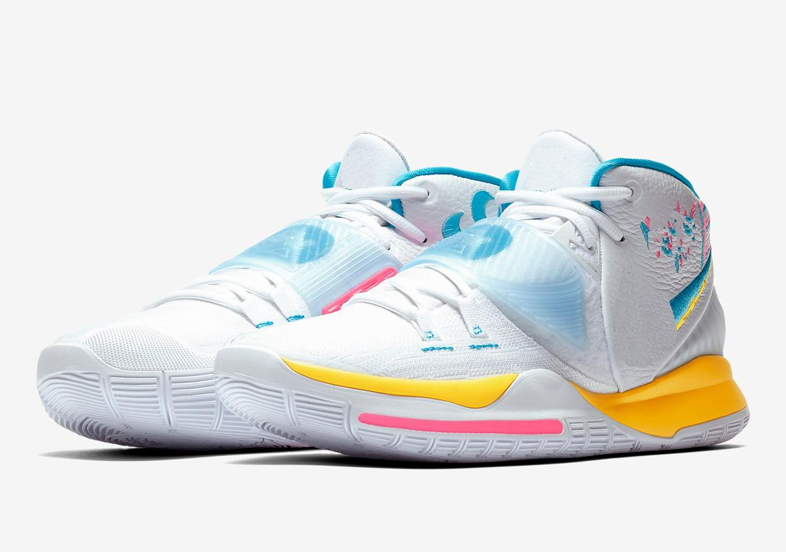 Kyrie 6 Neon Graffiti Kids Shoes For
