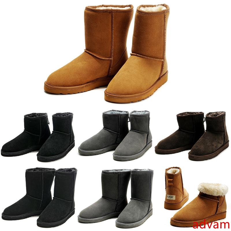 2020 Austrália winter snow boots Classic Short Half Mini Ankle Knee men boot Black Chestnut Grey Brown Men booties 42-45 zapatos shoes