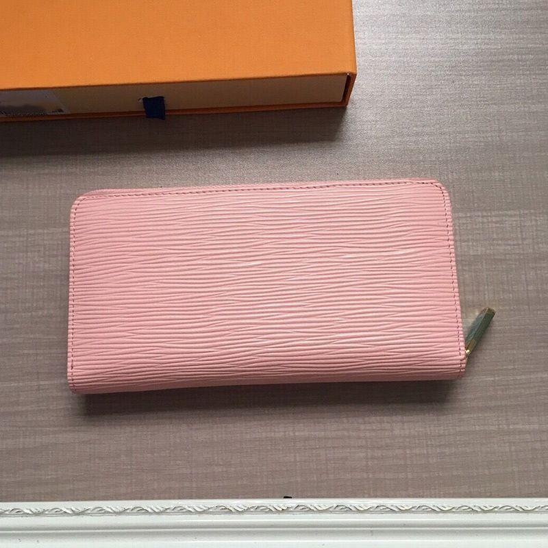 Mais recente mini-clássico água senhoras ondulação saco bolsas femininas de couro reais bolsa padrão longo da carteira bolsa de embreagem sacos de cartão e mudança carteira