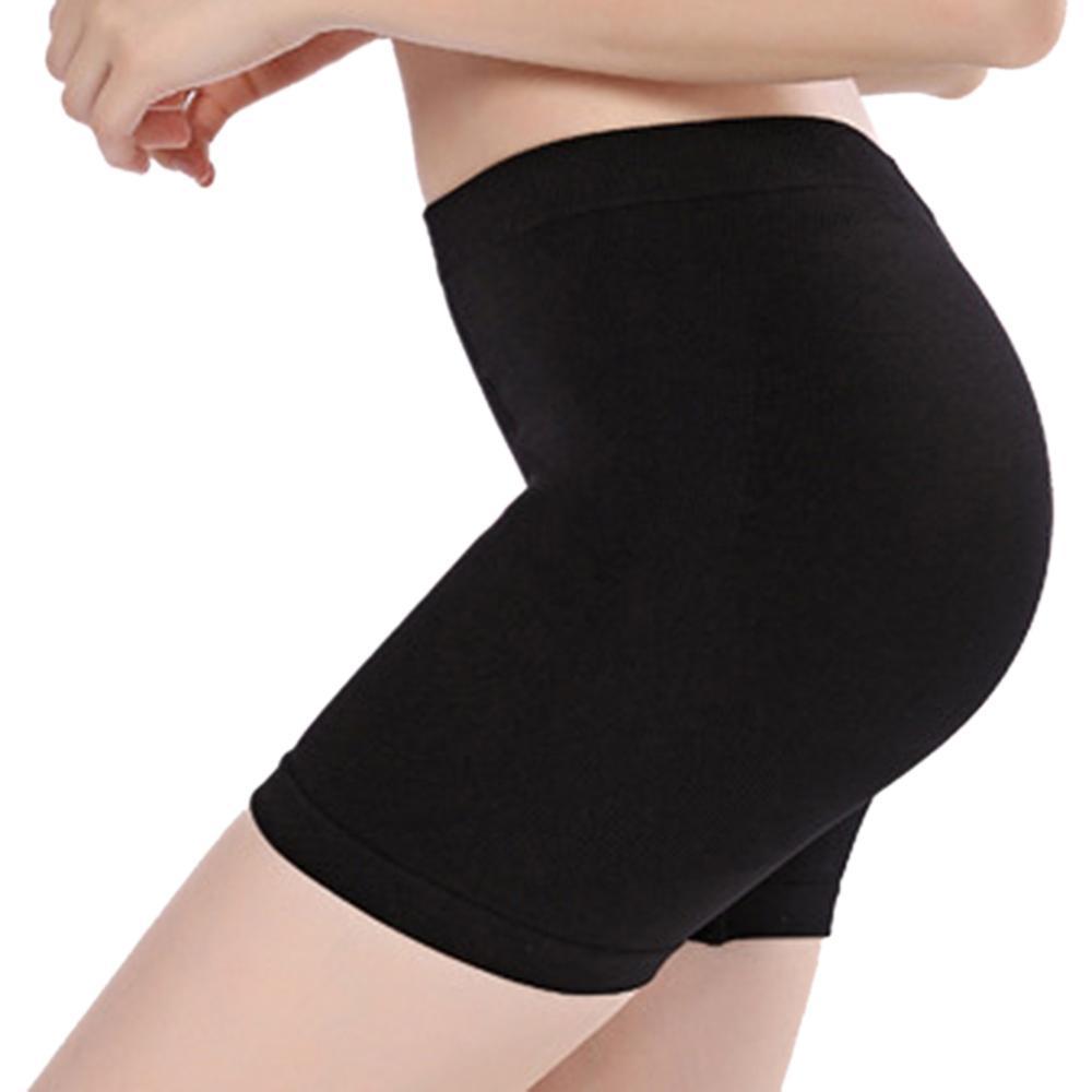 Femmes Nylon Doux Sans Soudure Sécurité Pantalon Court Été Sous Jupe Shorts Modal Glace Soie Respirant Collants Court Soild Safety