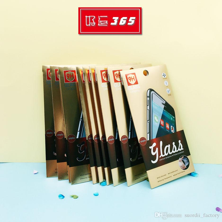 Fashion Package For Cell Phone Tempered Glass Screen Packing Box Retail Protective Paper packaging Boxes