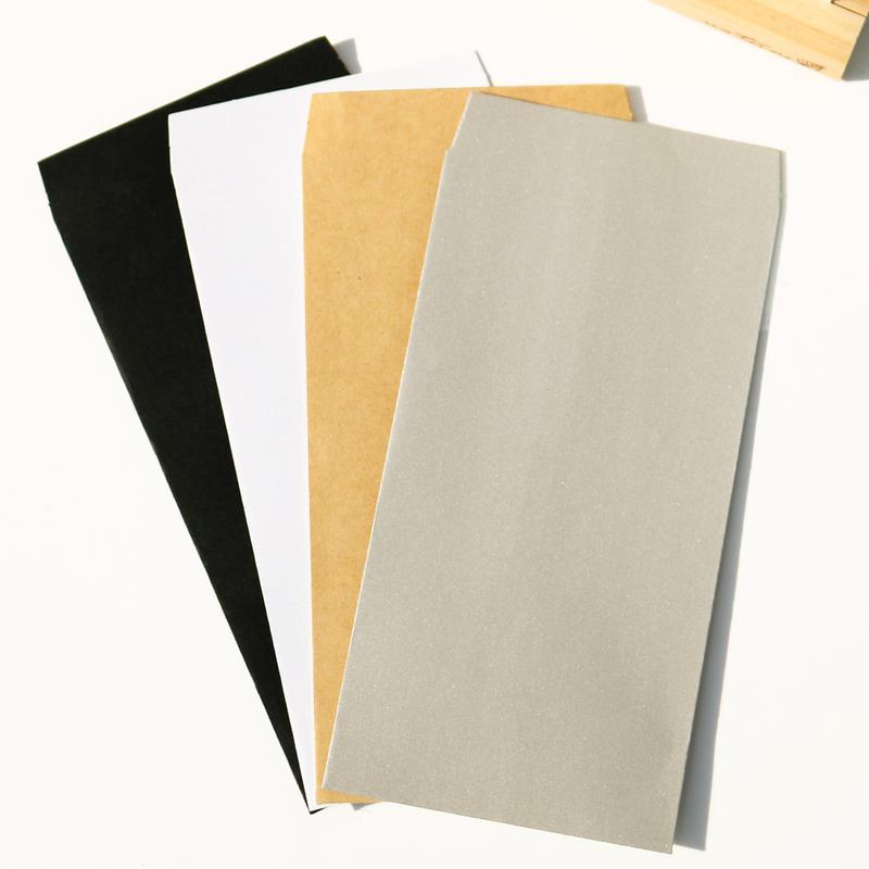 Invitación del blanco de la vendimia del partido del sobre de papel Kraft sobre de los efectos de escritorio de múltiples funciones del arte Sobres 10pcs