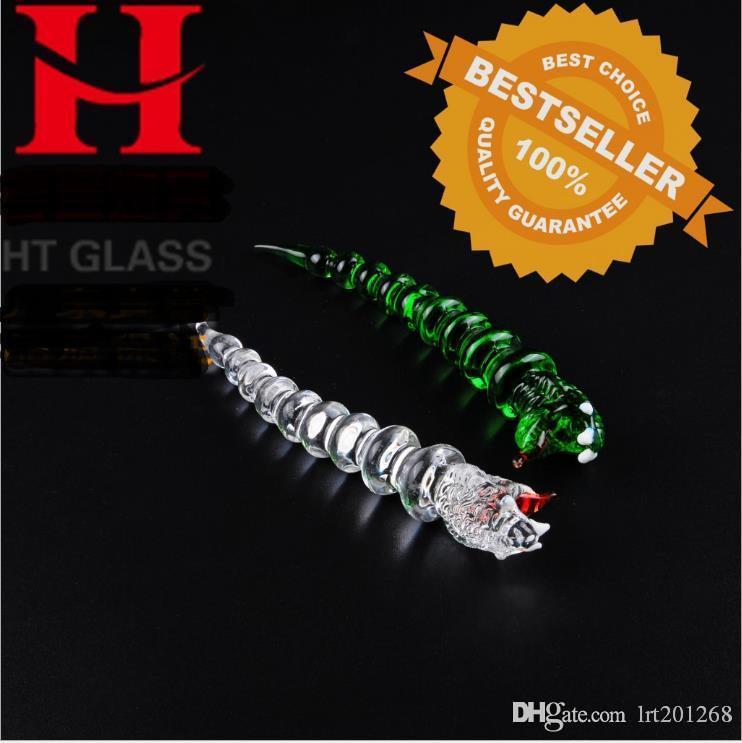 utensílios de vidro personalidade cobra, Atacado vidro Bongs, as tubulações de óleo Burner água de vidro, Acessórios de fumo da tubulação