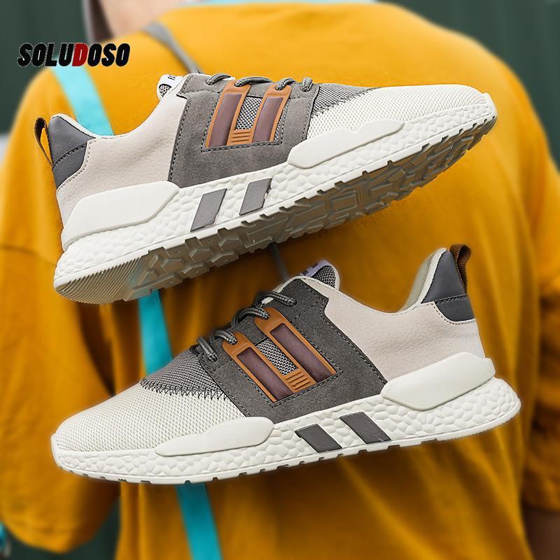 Damyuan 2020 Erkekler Spor Sneakers Ayakkabı Nefes Erkek Koşu Ayakkabı Kırmızı Hafif Sneakers Rahat Rahat